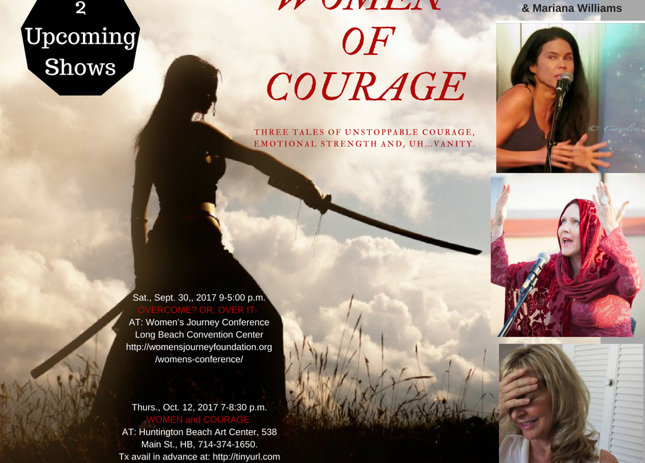 Women and Courage- Show coming up Thursday, October 12