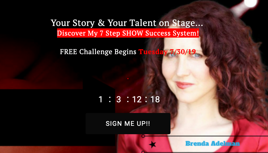 Free 7 Day Your Story and Talent on Stage Challenge begins Today